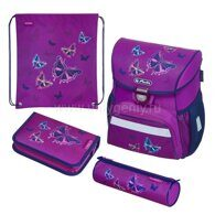 Ранец Herlitz LOOP PLUS Glitter Butterfly с наполнением